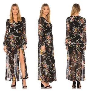 Band of Gypsies Floral Bouquet Wrap Dress